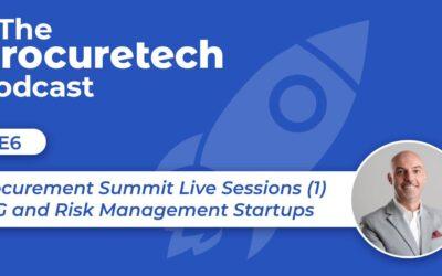 Procurement Summit Live Sessions: Part 1 – ESG and Risk Management Startups